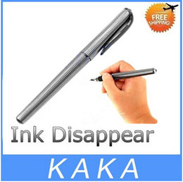 2017 pens ink vanishes Free shipping 5pcs lot Novel Magic Auto Vanishing Disappearing Ink Pen Invisible Ink Sign Pen Stationery - Black