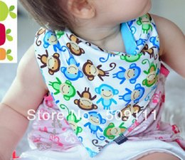 Wholesale Bandana Baby Bib Set AnimalsInfant Bib Owls monkey Bib Baby Bandana Bibs set of with animals KK020