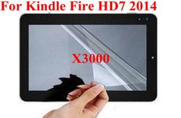 3000pcs 3 слоя Clear LCD экран протектор фильм гвардии для Амазонка зажигать огонь HD7 2014 новый огонь 7 2015 Версия Kindle Oasis DHL