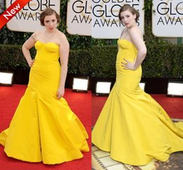 Wholesale 2015 Strapless Gold Plus Size Prom Dresses Long Mermaid Evening Dress Special Occasion Gowns