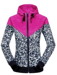 Atacado-Mulheres Jacket Autumn Windrunner exterior com capuz Jacket impermeável à prova de vento Sports Casual blusão amante Jogging Fina Coats
