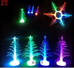 free shipping change colour Hot sale new year LED Christmas tree gifts  color fiber optic light Christmas hat activity