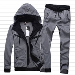 Wholesale Fall spring winter new men s Hoodies Outerwear pants fashion casual sportswear men suit jacket mens tracksuits sport suits