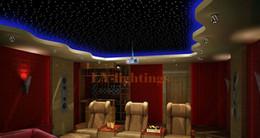 Wholesale-DIY optic fiber light kit led light +5mx1mmx150pcs optical fibres  RGB 16color change wireless RF control star ceiling light
