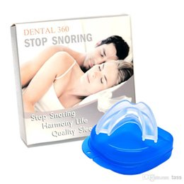 Wholesale Stop Snoring Mouthpiece Anti Snore Apnea Cure No Snore Sleeping Aid Night Tray