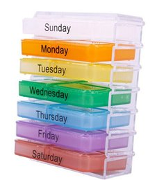Wholesale 48 sets Medicine Weekly Storage Pill Day Tablet Sorter Box Container Case Organizer
