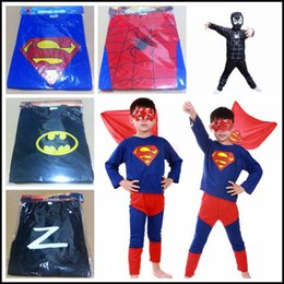 Wholesale 2015 kids halloween superhero costume children spiderman batman superman zorro super hero cosplay outfit with mask J061903 DHL