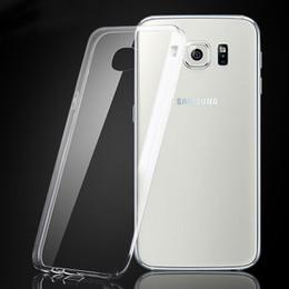 Per iPhone 7 7plus 6 S8 TPU trasparente libero Flessibilità ultra sottile copertura di caso per Samsung Galaxy Note 5 S7 bordo