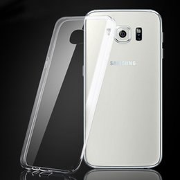 Pour iphone 7 7plus 6 S8 Soft TPU Transparent transparent Flexibilty ultra mince Retour Housse Pour Samsung Galaxy Note 5 bord S7