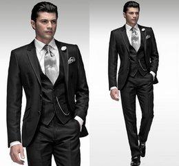 Wholesale Top Selling Custom Made High Quality Mens Wedding Suit Wedding Suits For Men Groom Groomsmen Tuxedos Jacket Pants Tie Vest