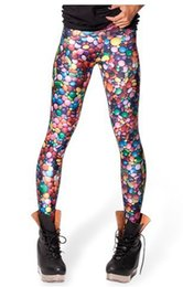 Wholesale Brand Fashion Punk Women Clothes Digital Print Pants New Candy Leggings Fitness leggins