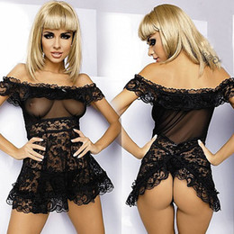 Wholesale women Pajamas Sexy Underwear Lady Transparent mesh lace sexy clairvoyant outfit sexy sleepwear racy lingerie Braces Skirt new