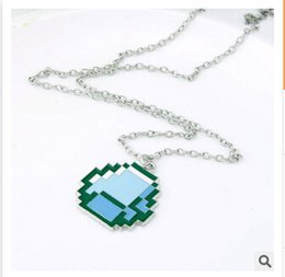 Sandbox Game My World Official MC Minecraft Necklace Pendants JJ Monster Alloy Pendant Minecraft Creeper Keychain christmas Gifts G26