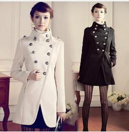 Discount Ladies Long Military Style Coat | 2017 Ladies Long