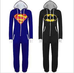 Wholesale 2014 color cute cartoon Flannel super man batman animal pajamas comfortable household sleeper Cosplay couple costume topB558