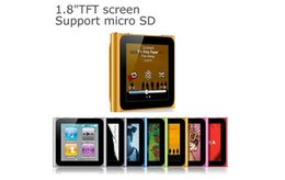 Cheap 8gb 16gb Built-in 6th Clip MP4 Player Sale 1.8inch Screen 8GB High Performance MP4 Media Player Support Sound Recording FM EBook