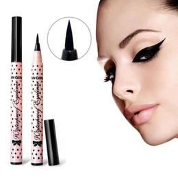 Wholesale Women Lady Beauty Makeup Black Eyeliner Waterproof Long lasting Liquid Eye Liner Pencil Pen Make Up Cosmetic Cute Tool
