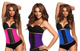 Wholesale New Arrive Latex Waist Trainer Vest Plus Size Waist Training Corsets Hot Shapers Women Slimming Body Shaper Latex Waist Cincher Shapewear