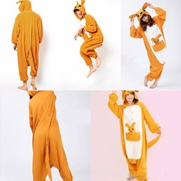 Wholesale In Stock Kangaroo Pajamas Anime Pyjamas Cosplay Costume Adult Unisex Onesie Dress Sleepwear Halloween S M L XL VT
