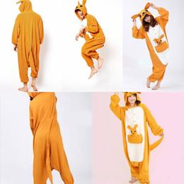 Wholesale In Stock Kangaroo Pajamas Anime Pyjamas Cosplay Costume Adult Unisex Onesie Dress Sleepwear Halloween S M L XL VT