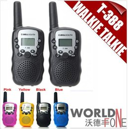 Совершенно новый Bellsouth 2Pcs (пара) Walkie Talkie Travel T-388 0.5W UHF Auto Multi Каналы 2-Way Радио Интерфон 2pcs / set
