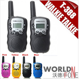 Nuevo Bellsouth 2Pcs (un par) Walkie Talkie Viaje T-388 0.5W UHF Auto Multi Canales 2-Way Radio Interphone 2pcs / set
