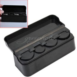 Wholesale 1x Black Auto Truck Coin Storage Holder Car Plastic Coins Case Container Box case nds box liberty