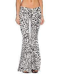 Wholesale Nueva Moda Casual Mujer Pantalones anchos pierna Pantalones de mujer Loose Pantalón Negro Blanco llamaradas más el tamaño S Xl
