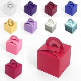 Wholesale 2015 Wedding Favor Holders Gift Favor Boxes Candy Color Chocolate Bags Square Paper Packing Bags EBAAJ