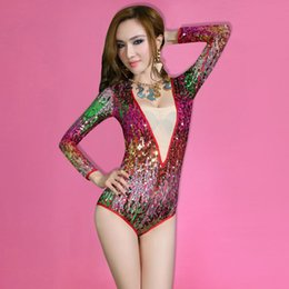 Wholesale Specials According to new European and American Ballet dance bar night games ds sexy sequined performances jazz singer lead dancer clothing