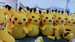 Wholesale 2015 High Quality Pikachu Mascot Costume Popular Cartoon Character Costume For Adult Fancy Dress Party Suit