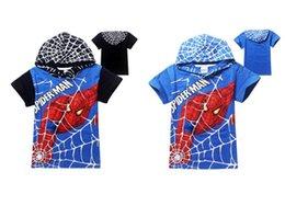 Wholesale DHL Free Y Cartoon spiderman short t shirts hoodies kids baby children summer t shirts childer hoodies clothing C001