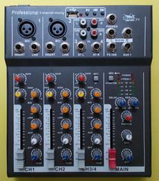 Generación libre del canal del profesional 4 del envío en la consola mezcladora del mezclador audio de DJ de la fuente de alimentación del phantom de la desci ...