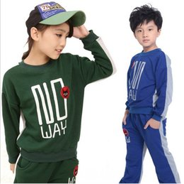 Wholesale Winter Children s Plush Suits Girl s Shirts Pants Sets Baby gril Letter Outfits Kids clothing Set WD1446
