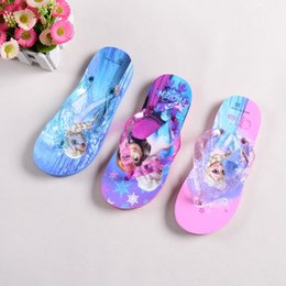 Wholesale 2014 NEW ARRIVAL Children card Flip flops Frozen ELSA ANNA sandals Sandals Household shoes yards sale drop shipping pairs