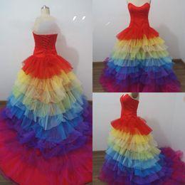 Discount Rainbow White Wedding Dress | 2017 Rainbow White Wedding ...