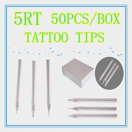 Caja De 50 Ronda Tamaño 5RT Blanco Desechables Tatuaje De Puntas Largas Hiht Calidad Boquilla Fuente HLDT-A-5RT