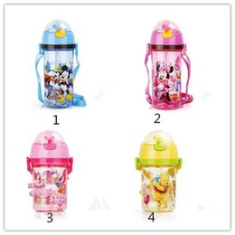 Wholesale Water Bottle Hot Children Cute Mickey and Minnie Printing Bottle Fashion Kids Plastic and More Color Water Bottle