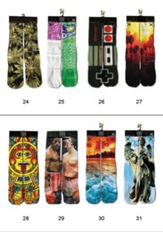 Wholesale Mens D Printed Socks Emoji Printing ODD Socks Chinelo Masculino Towel Bottom Sport Socks Styles