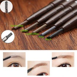 Wholesale New Arrivals Women Lady Waterproof Eye Brow Eyeliner Eyebrow Pencil With Brush Makeup Beauty Tool TX324