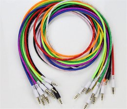 Плетеные AUX 3,5 мм стерео аудио Вспомогательные канатной мужчинами для iPhone 6 6+ / Samsung Galaxy S5 / КПК / Ipad / MP3