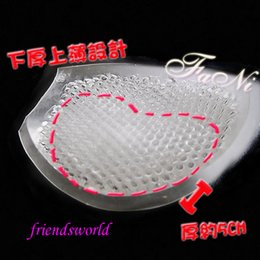 Wholesale Invisible Wedding Breast Petal thickening Accrescent Breathable Silica Gel Underwear Bra pad Insert DHL Fedex