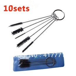 Wholesale Sets Tattoo Machine Tip Airbrush Wire Nylon Cleaning Brush Tubes Nozzle Gun For Sale