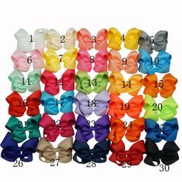 Wholesale Cheveux Summer Style Bows Big ruban gros grain Bow cheveux Avec clip filles Jumbo Bows bébé Accessoires cheveux couleurs en stock Livraison gratuite DHL