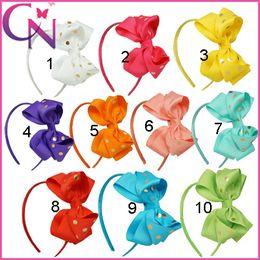 online shopping New design Gilding dot styles diy bowknot hair hoop Cinderella headbands hair accessories fashion headwear handmade hair sticks