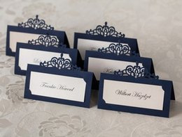 Wholesale wedding table card seat card Wedding Decorations Party place card Caio style name card hollow seating cards personalized table cards