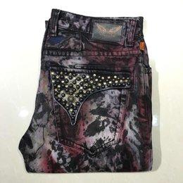 Wholesale 2015 Designer robin jeans Mens long flap crystal studded Denim jeans Black clear EMBELISHED New Size