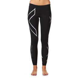 Wholesale NEW ladies xu Women s Compression Tights Plus Size Blue Silver Black Logo WA1968b Running Clothing HOT SALE