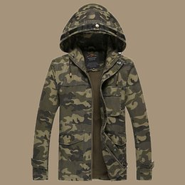 Wholesale Fall New Arrival Mens Casual Camouflage Jacket Military Style Men Hoody Camo Jackets and Coats Man Tactical Outerwear Size M XL
