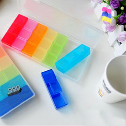Wholesale New Practical Days Colorful Pill Medicine Tablet Drug Box Case Organizer Container